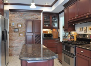 Kitchen brick end wall